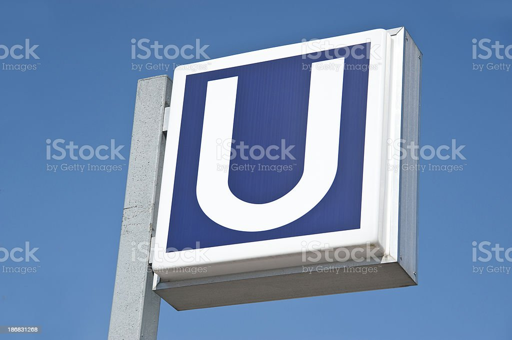 U-U-Ubahnstation - Lizenzfrei Abstrakt Stock-Foto
