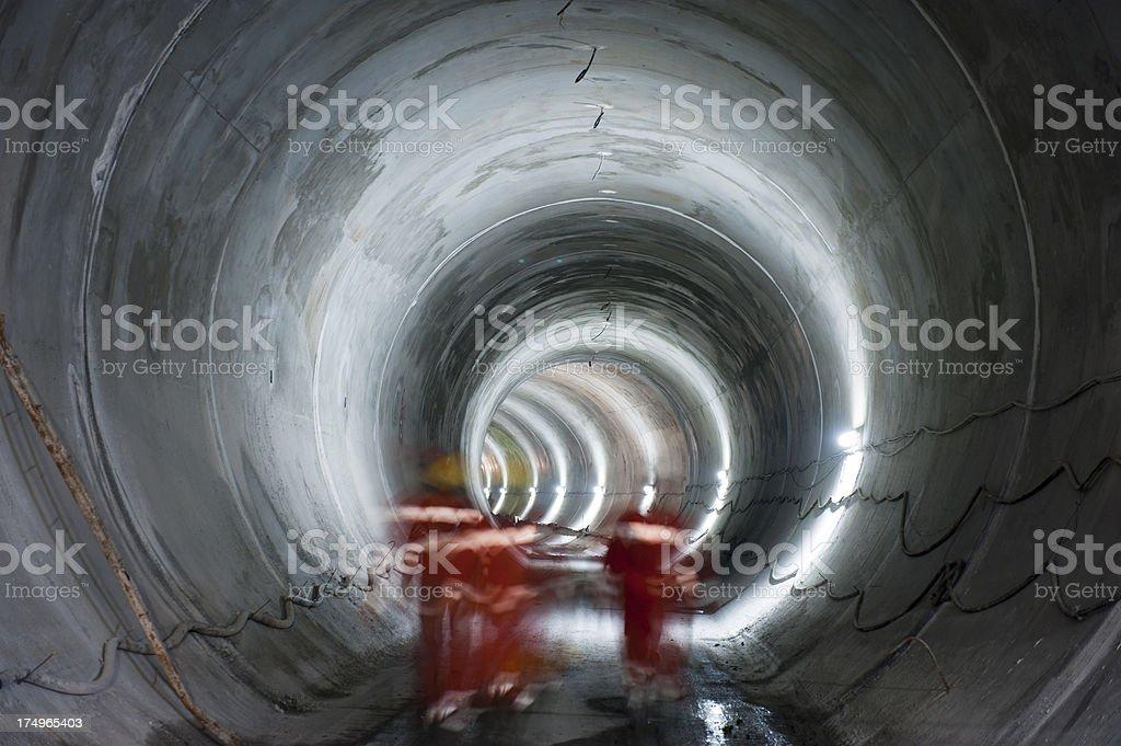 Subway, underground tunnel construction royalty-free stock photo