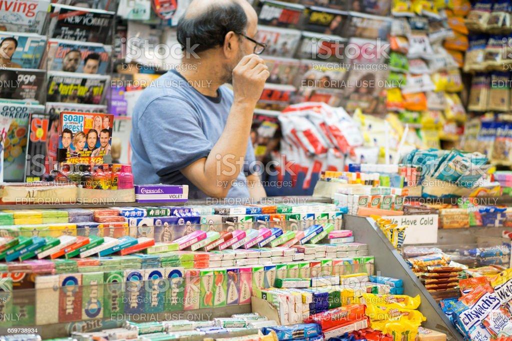 Subway Vendor stock photo
