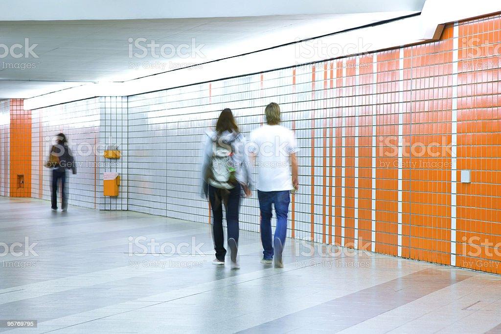 Subway Walkway royalty-free stock photo