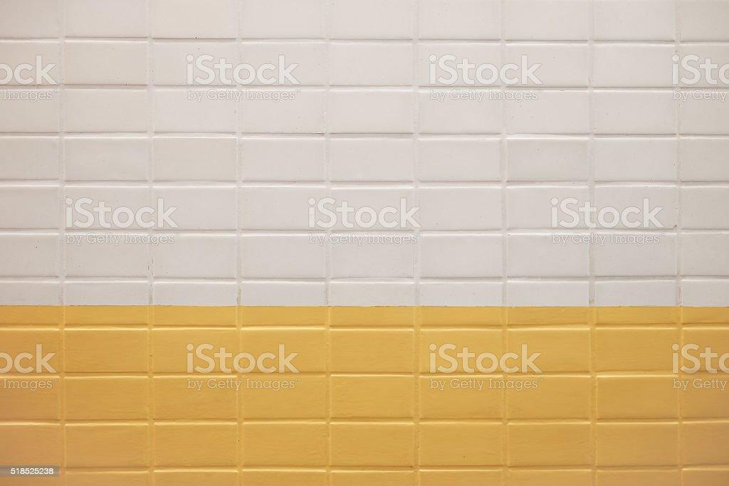 Metropolitana di mattoni sfondo con trama di piastrelle bianco e