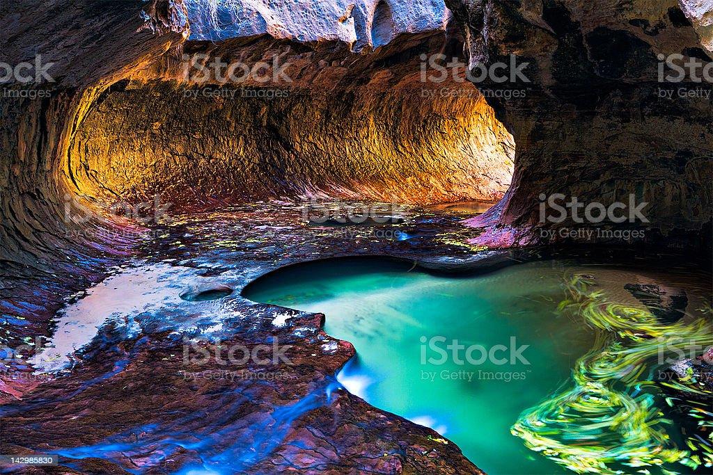 Subway Zion, NP - Royalty-free Canyon Stock Photo