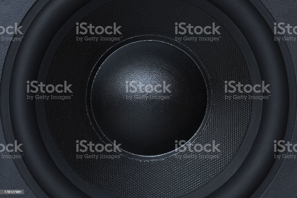 Subwoofer element close-up stock photo