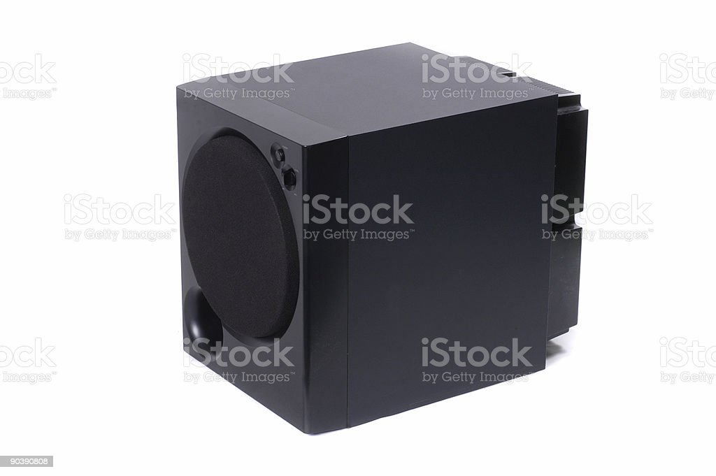 Subwoofer unit stock photo
