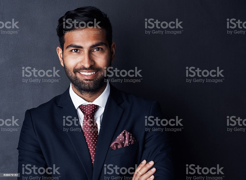 Succeeding in business with confidence and conviction stock photo