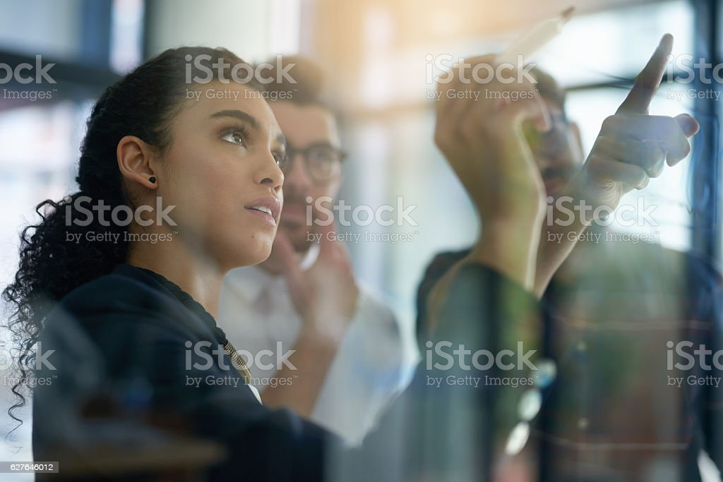 Succeeding is top priority stock photo