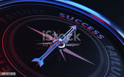 istock Succes Concept: Arrow of A Compass Pointing Succes Text 837571376