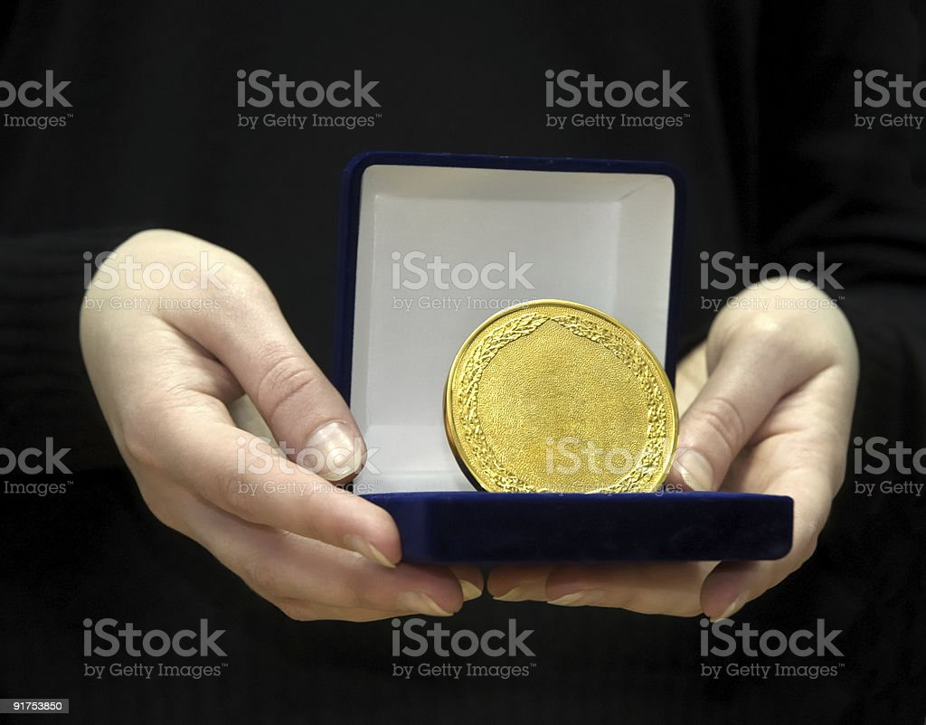Succes - first place medal stock photo