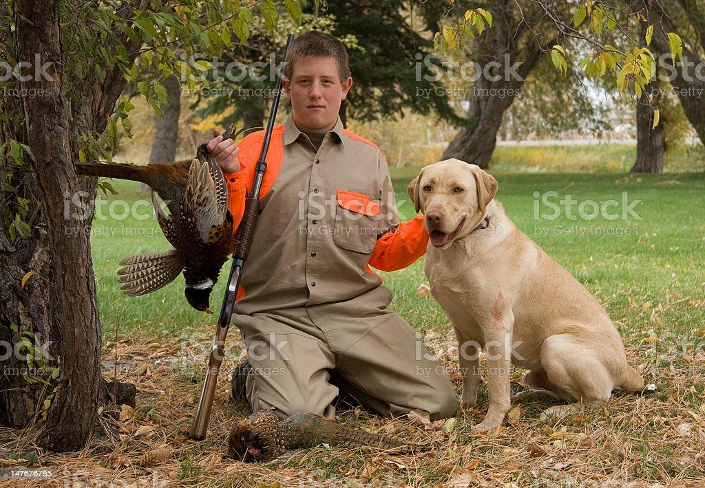 Succesful bird hunt stock photo