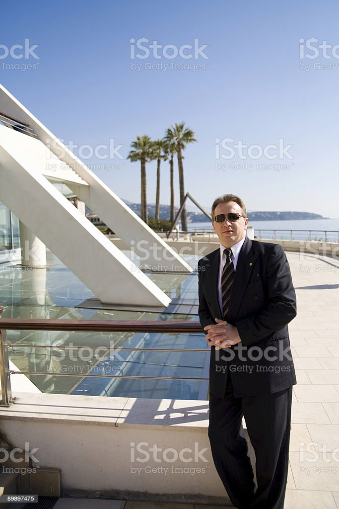 Succesful Business at the seaside royalty-free stock photo