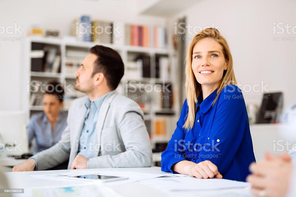 Succesful businesswoman CEO of company royaltyfri bildbanksbilder