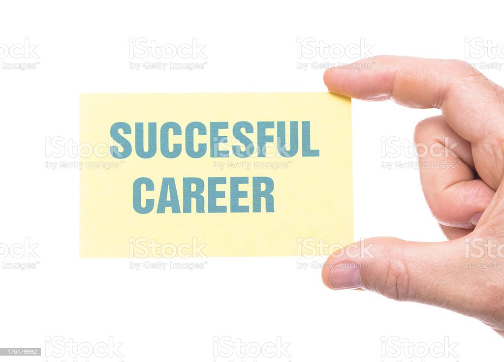 succesful career greeting card royalty-free stock photo