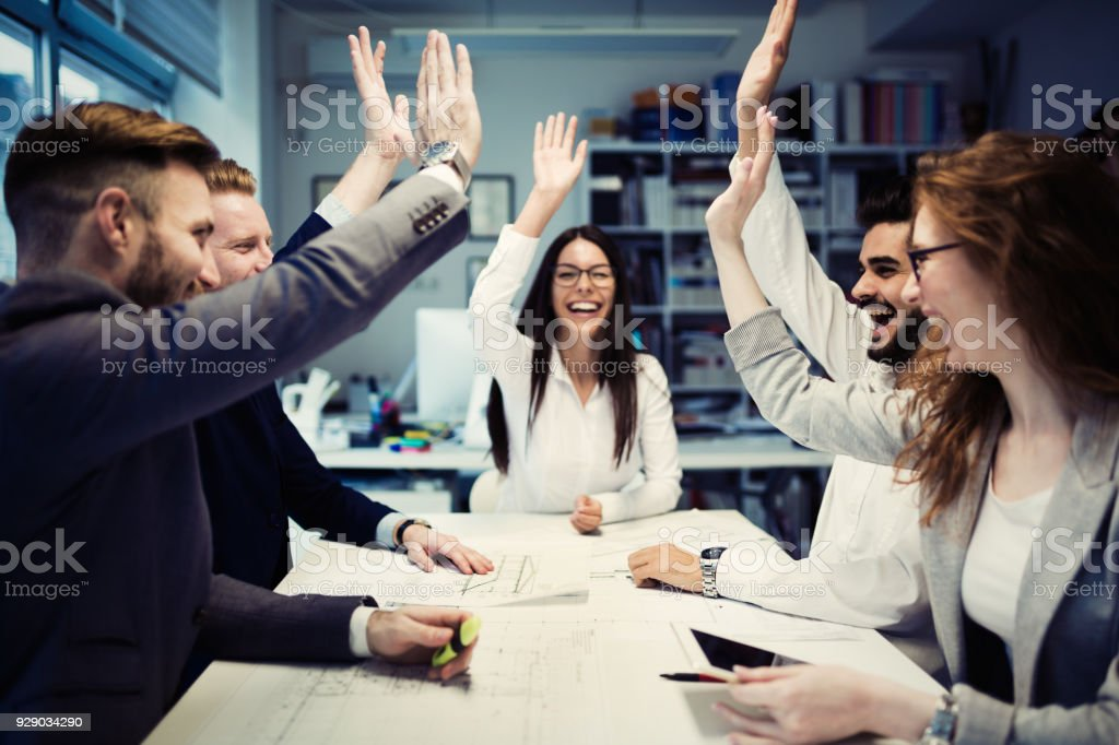 Succesful enterprenours and business people stock photo