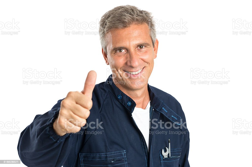 Succesful Mechanic stock photo