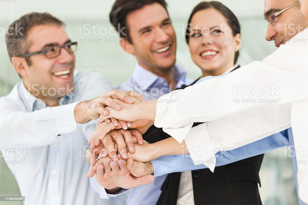 Succesfull team royalty-free stock photo