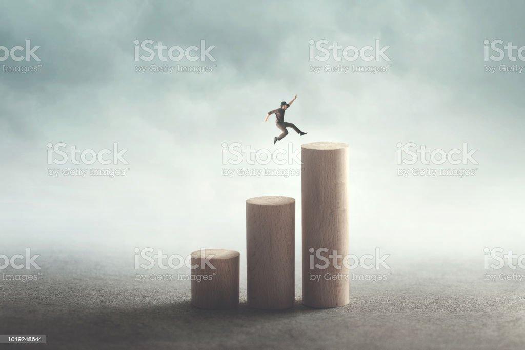 conceito de sucesso e ambição - Foto de stock de Abstrato royalty-free