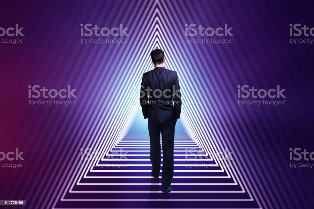Success and career development concept stock photo