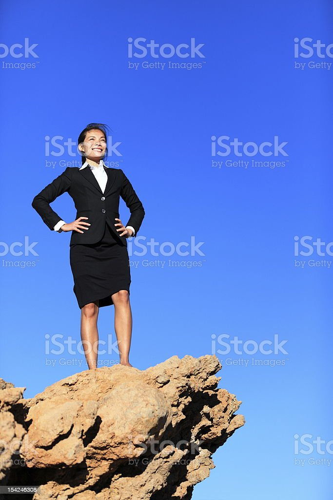 Success and challenges - business concept royalty-free stock photo