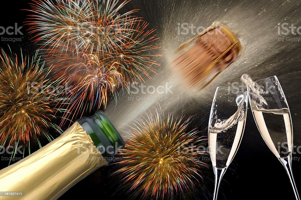success and champagne royalty-free stock photo