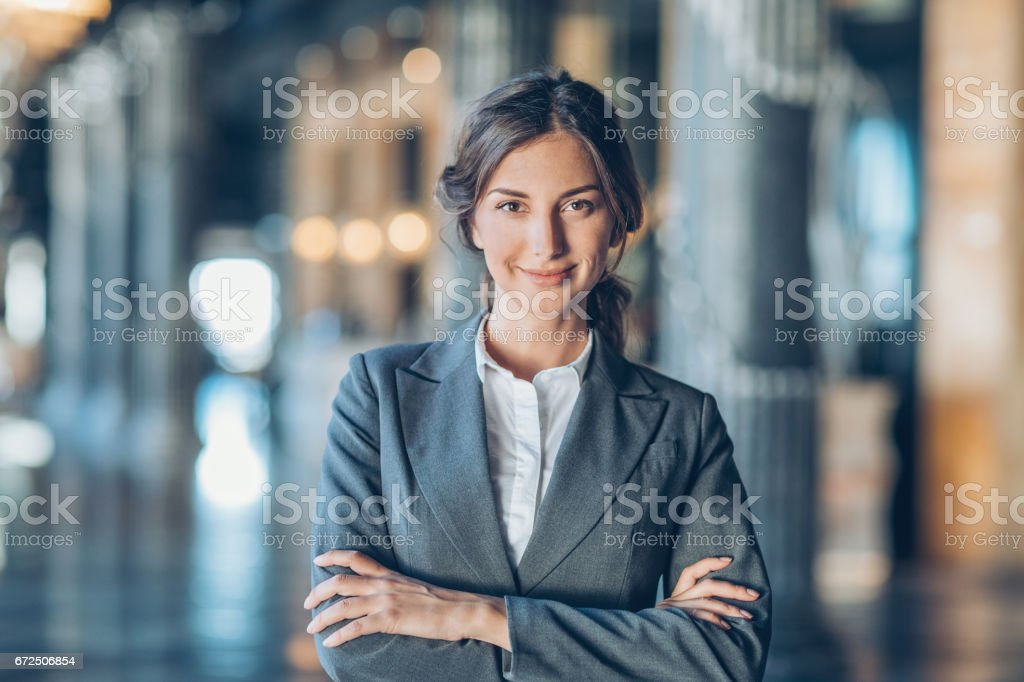 Success and confidence in business stock photo