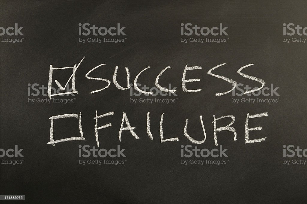 Success and Failure Checkbox royalty-free stock photo