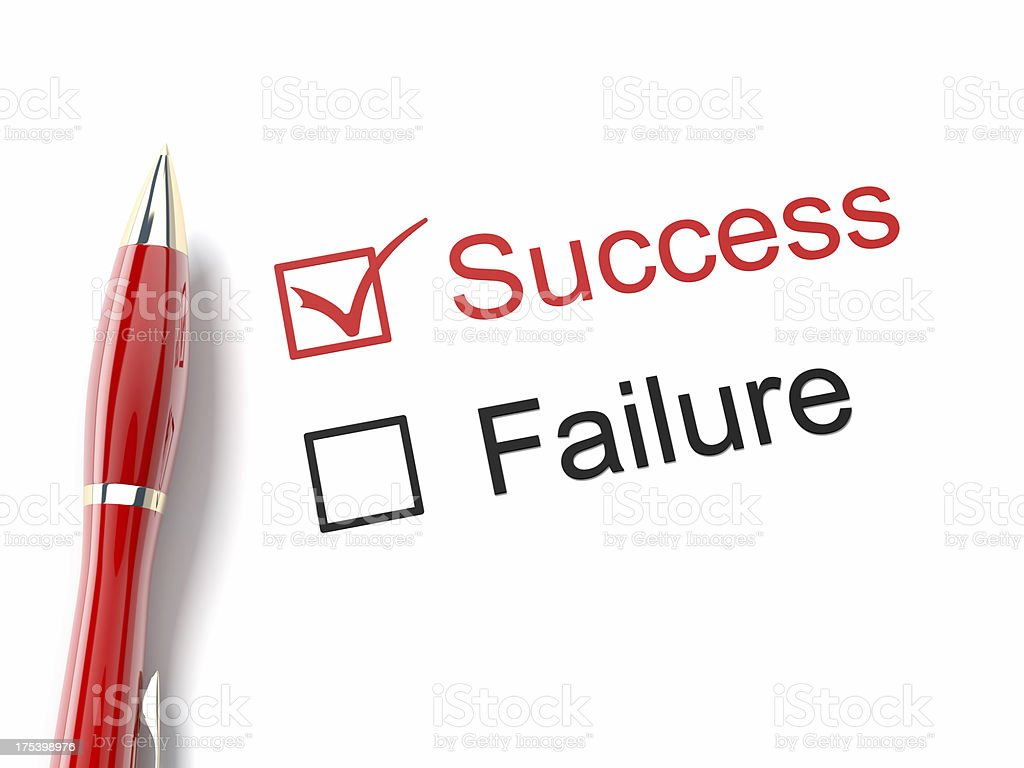 Success and Failure royalty-free stock photo