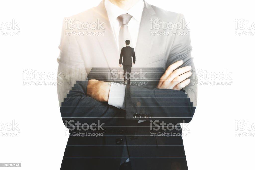 Succes en werk concept - Royalty-free Alleen mannen Stockfoto
