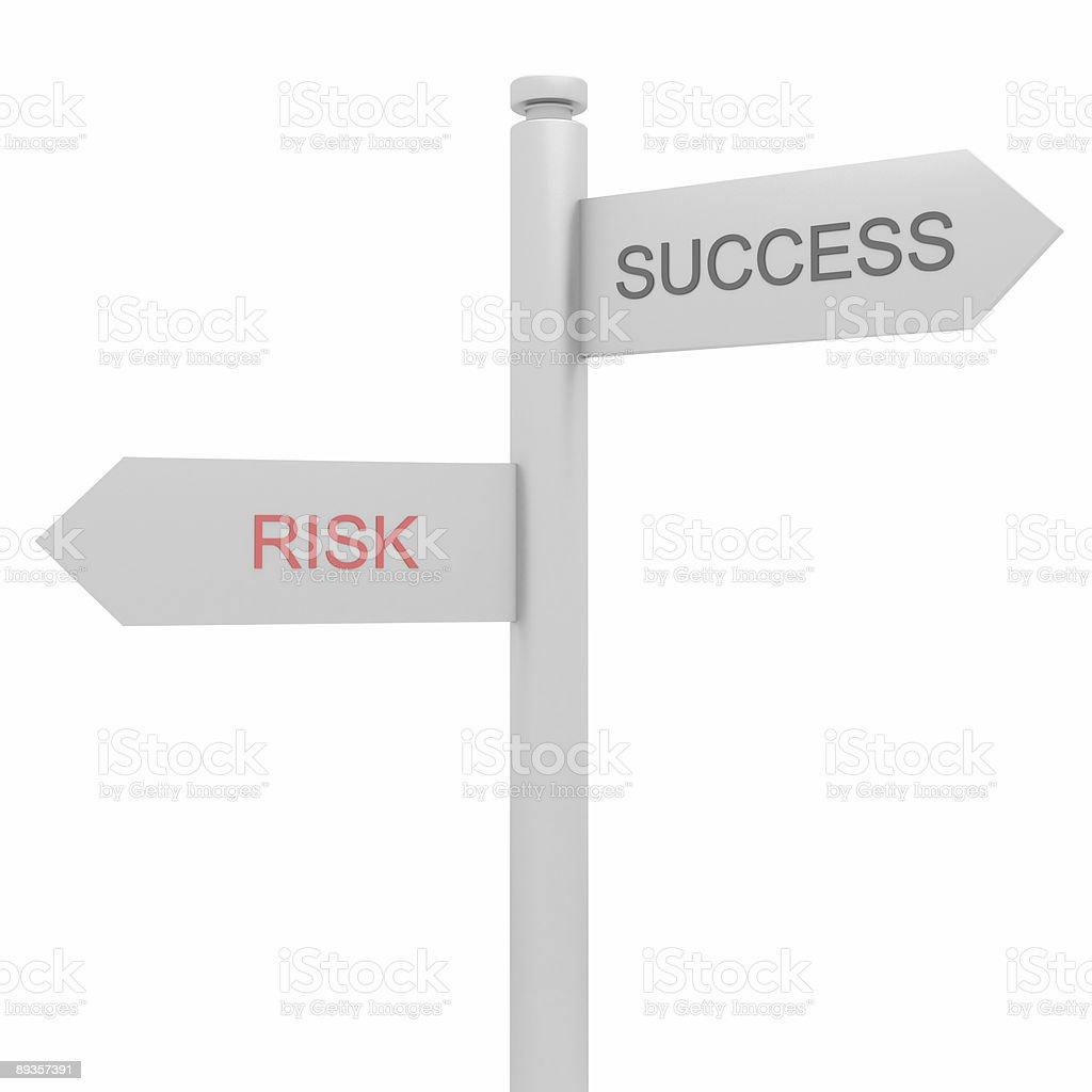 Successo e rischi (isolato su bianco foto stock royalty-free