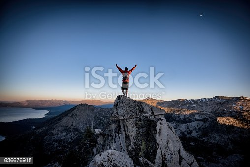 istock Success and Victory in the mountains 636676918