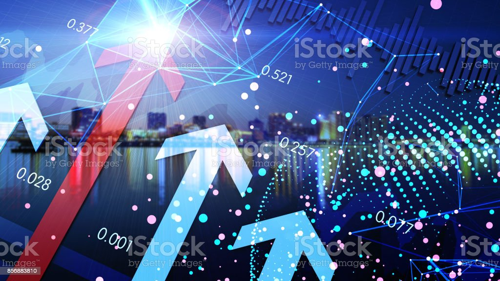 Success arrow, future technology, human science and technology progress stock photo