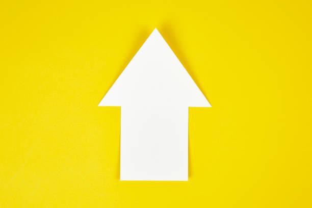 concept d'icône de flèche de succès - arrow photos et images de collection