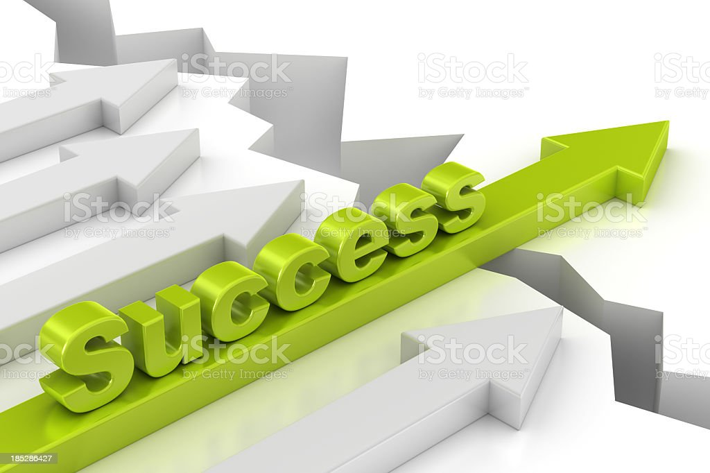 success arrow royalty-free stock photo