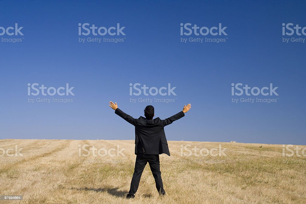 Success at the field royalty-free stock photo