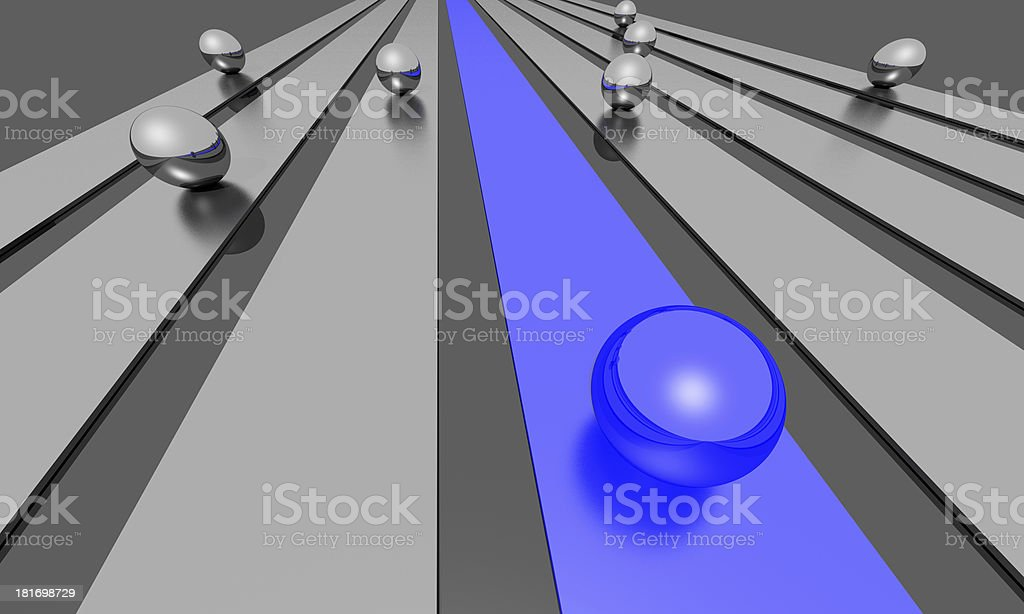 Success - Blue and yellow Sphere royalty-free stock photo