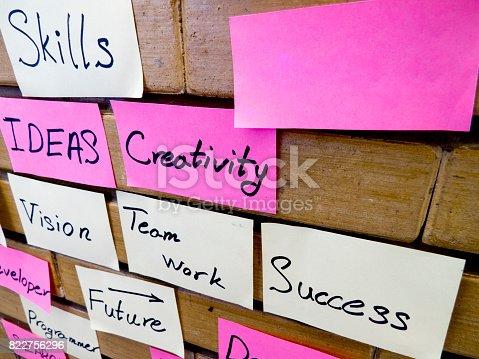 istock Success Brainstorming Wall 822756296
