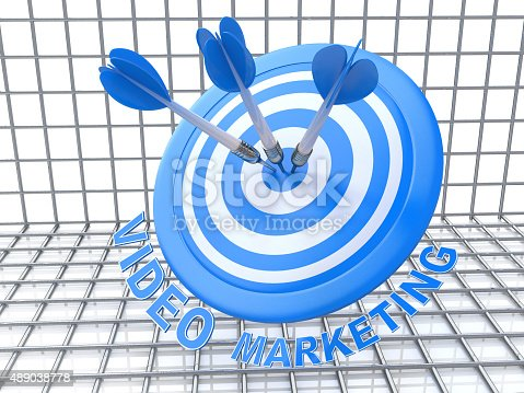 469652019 istock photo Success business concept: arrows hitting the center of target, B 489038778