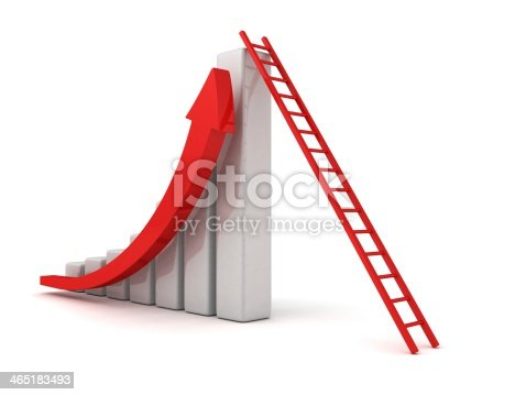 istock success business graph with grow arrow and ladder 465183493