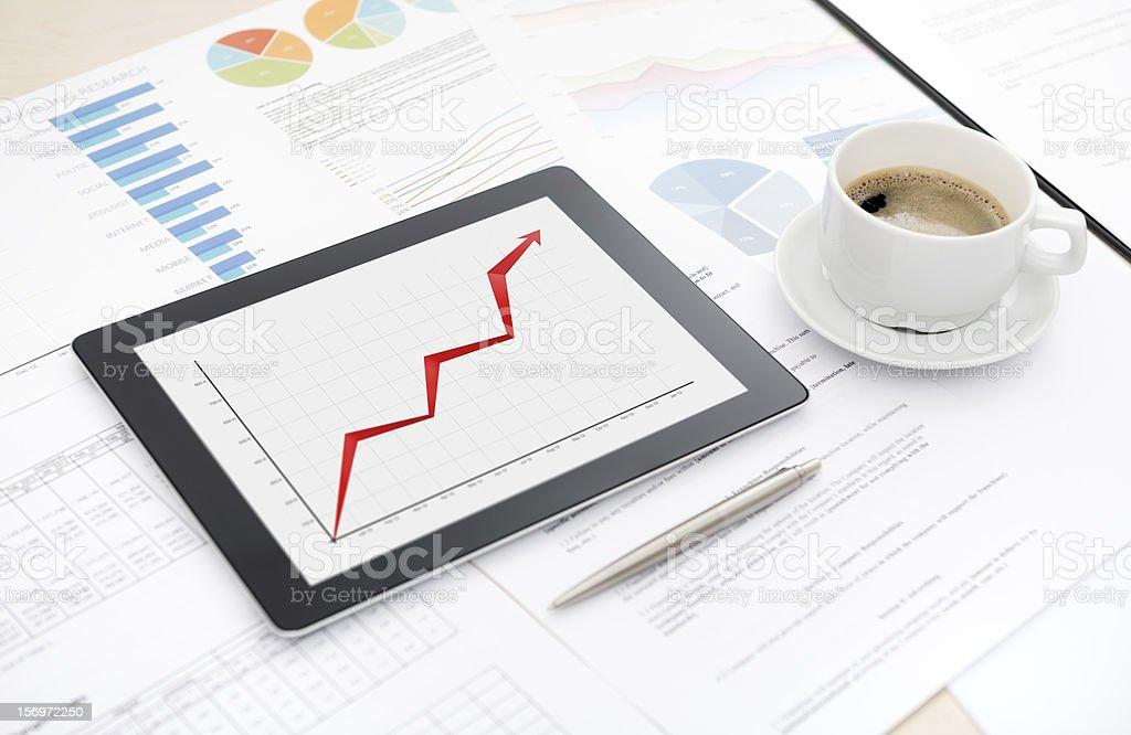 Success business report stock photo