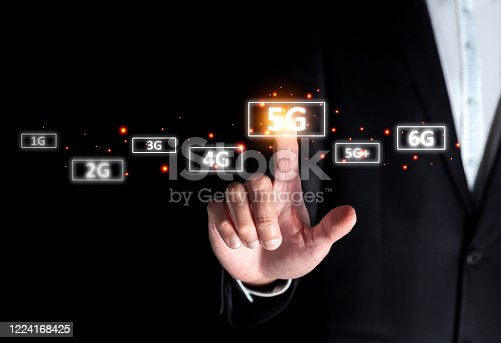 1137367258 istock photo success businessman select on 5g instead of 4g connect to internet online digital technology on smart broadband LTE signal computer device and future technology concept 1224168425