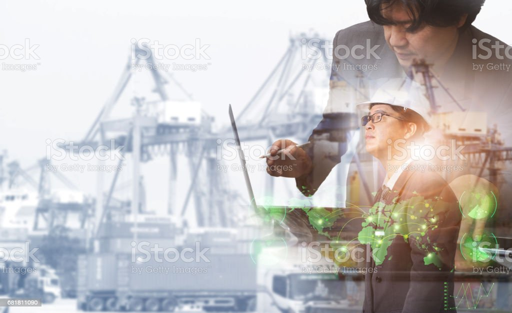 success businessman working stock photo