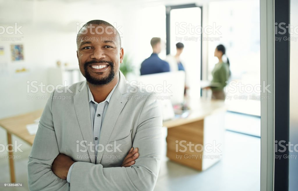 Success comes to those who are confident to take it stock photo