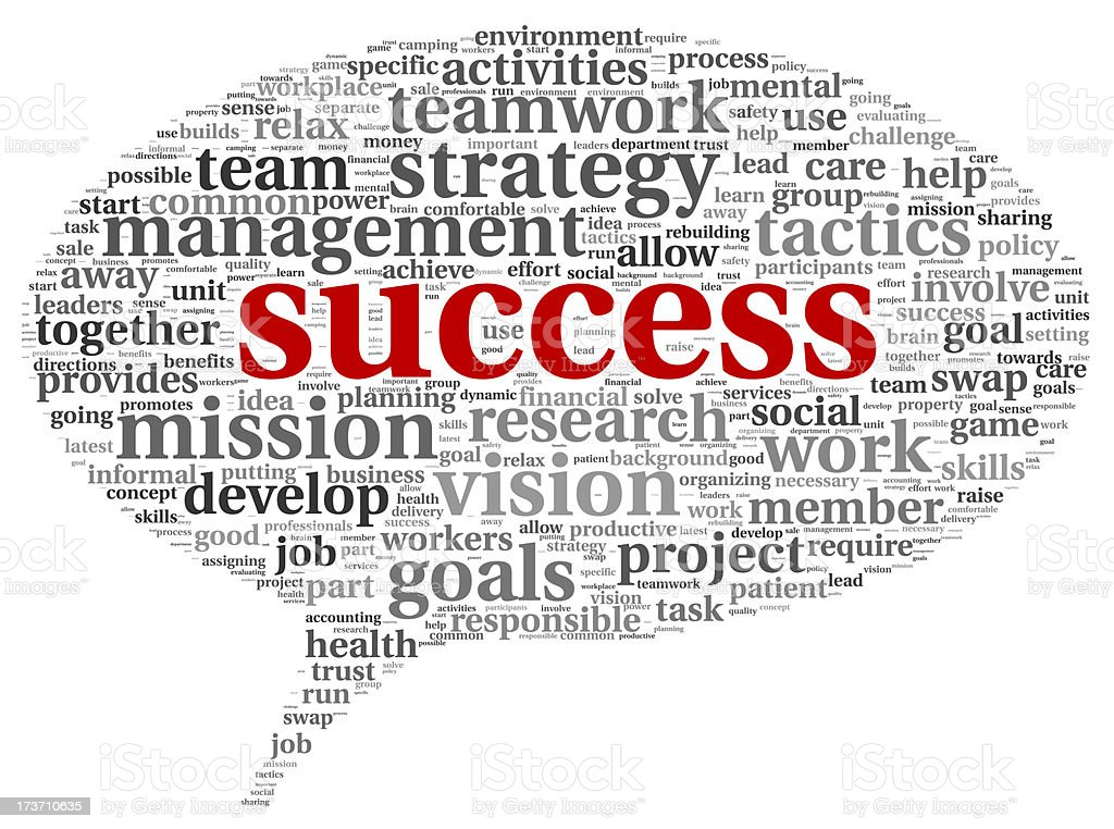 Success concept in tag cloud royalty-free stock photo