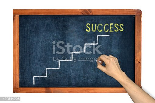 649719220istockphoto Success Concept on a chalkboard. 492544208