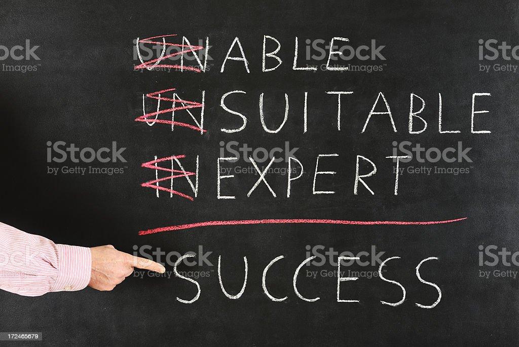 Success Concept on Blackboard royalty-free stock photo