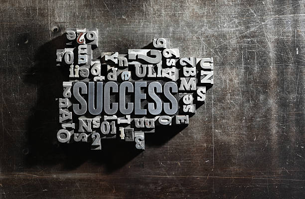 Success concept related words stock photo