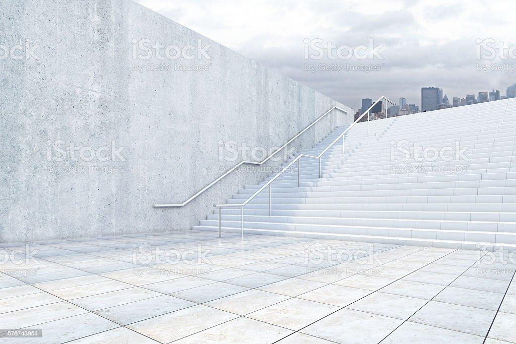 Success concept with concrete stairs - foto de stock
