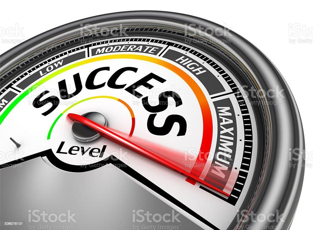 success conceptual meter indicate maximum stock photo