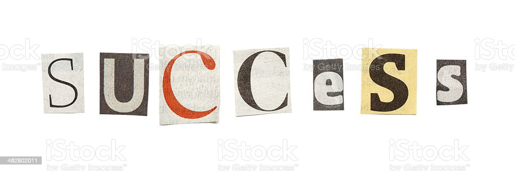 Success cutout newspaper letters stock photo more pictures of success cutout newspaper letters royalty free stock photo spiritdancerdesigns Choice Image