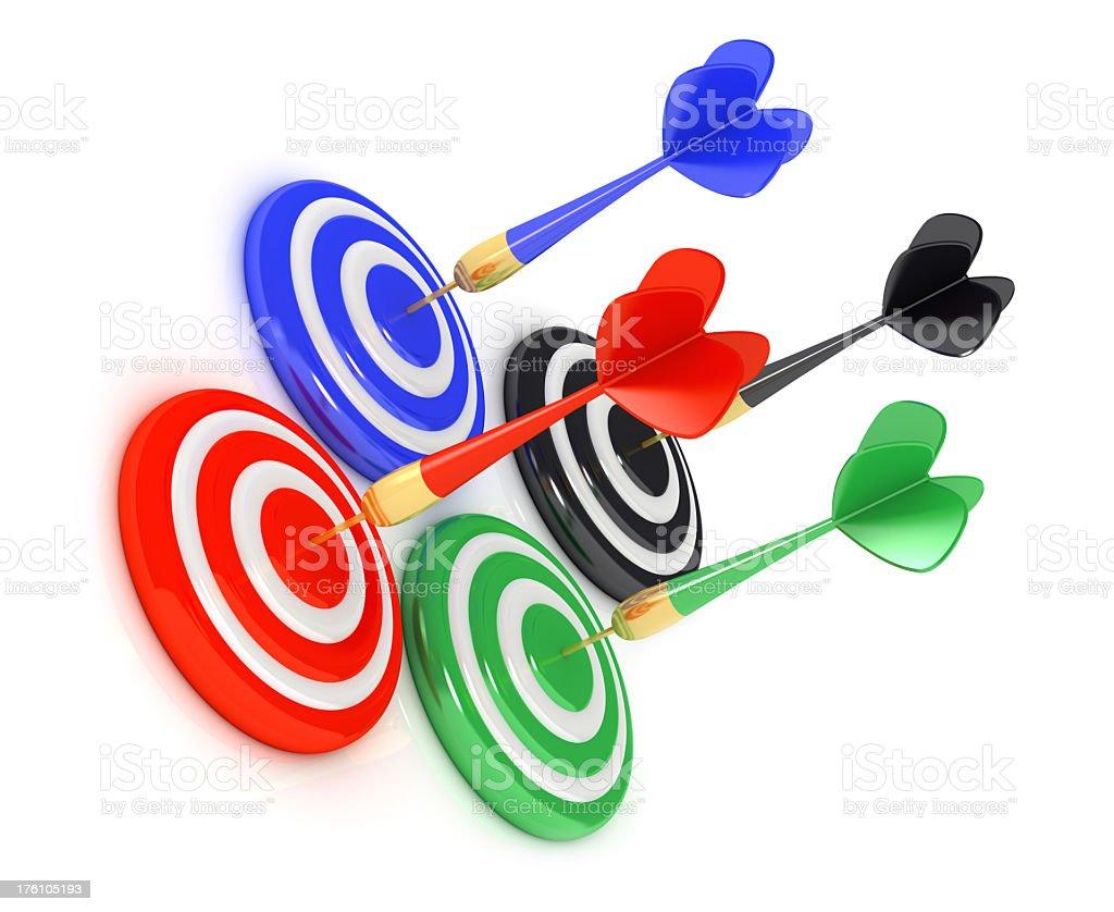 Success  darts royalty-free stock photo