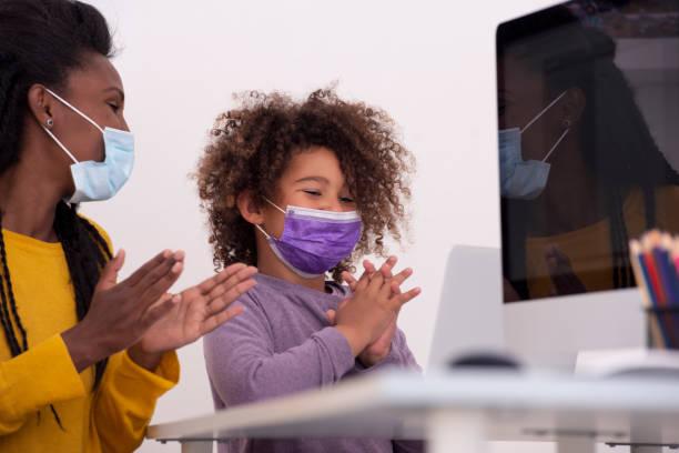Success despite the epidemic! stock photo